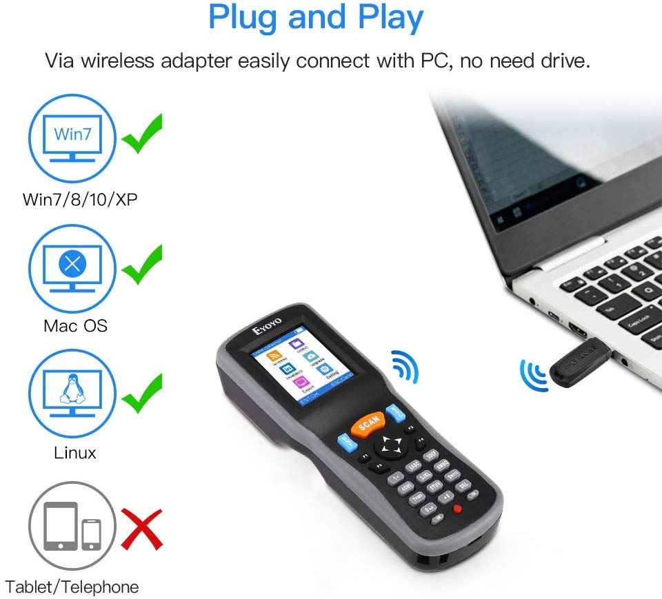 Portable barcode scanner with memory